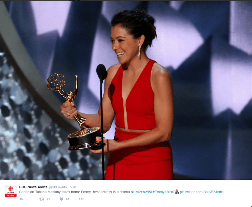 Tat wins Emmy!