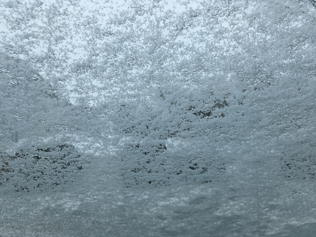 12:35 - snowy windshield