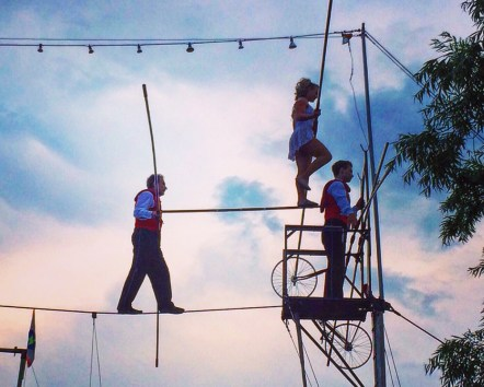 Tino, Clare and Alex Wallenda perform during a recent visit to Ocean City, Maryland.