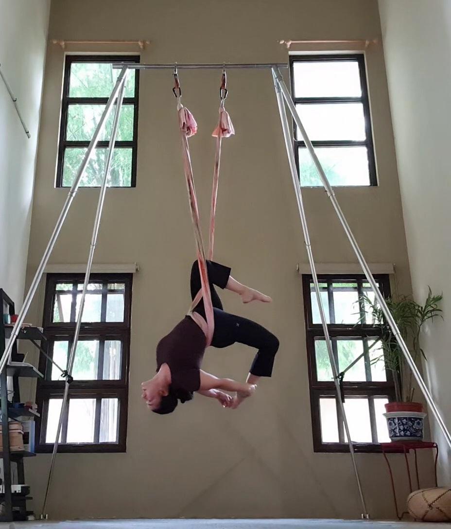 Aerial Hammock Exercise