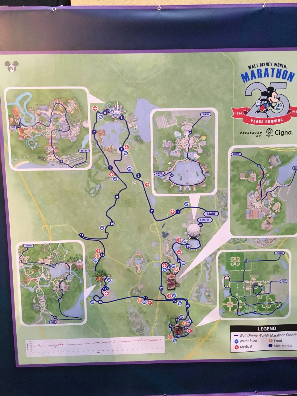 Disney World Marathon course map