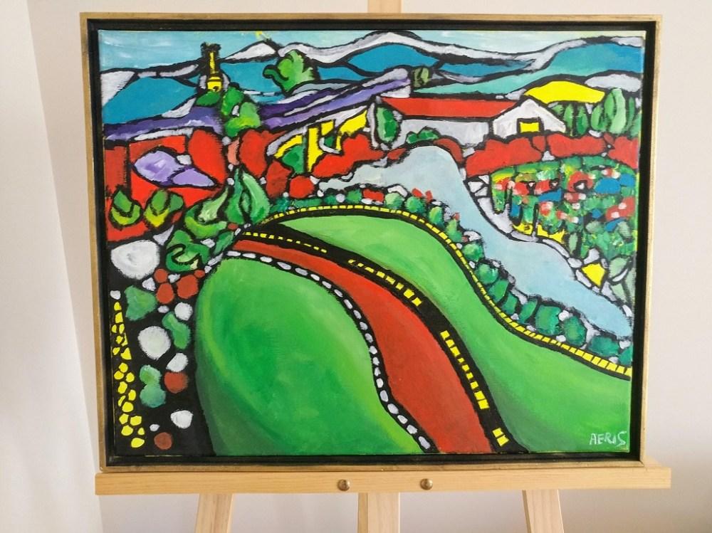 Kelowna Vineyard Bold Art By Aeris Osborne