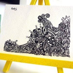 Flowers Waving Drawing