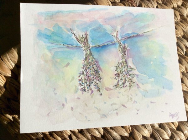 Hanging Flowers Painting