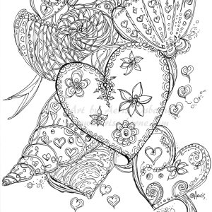 Seashells Love Coloring