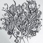 Tulips Ink Art