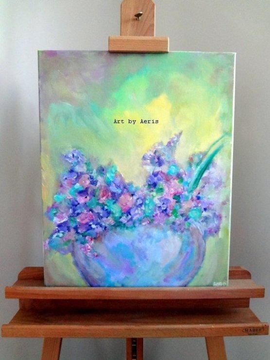 Violet Ceramic Painting