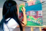 Edmonton Artist Aeris Osborne Frederick S Jones House Portrait Heritage House Painting