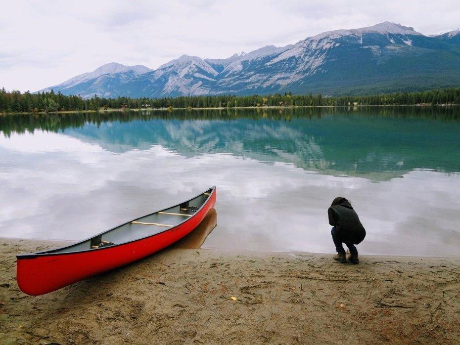 Jasper Maligne Lake Drawing Inspiration
