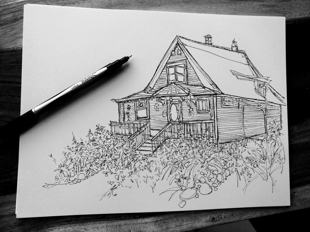 Yeg old House Advanced Drawing