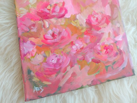 Paris Red Roses Abstract Flower Wall Painting