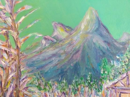 Christmas Mountain Village Impressionist Painting By Aeris Osborne