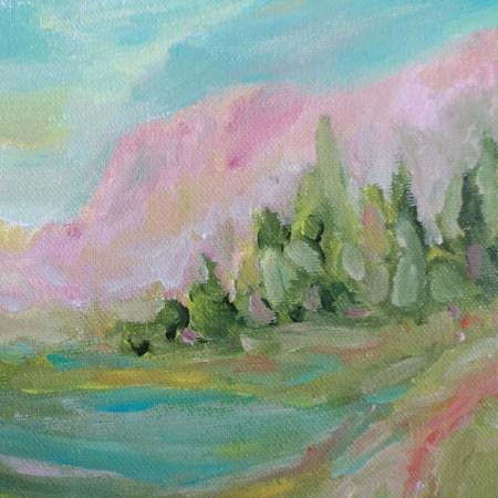 Montana Sunrise Acrylic Painting By Aeris Osborne 1