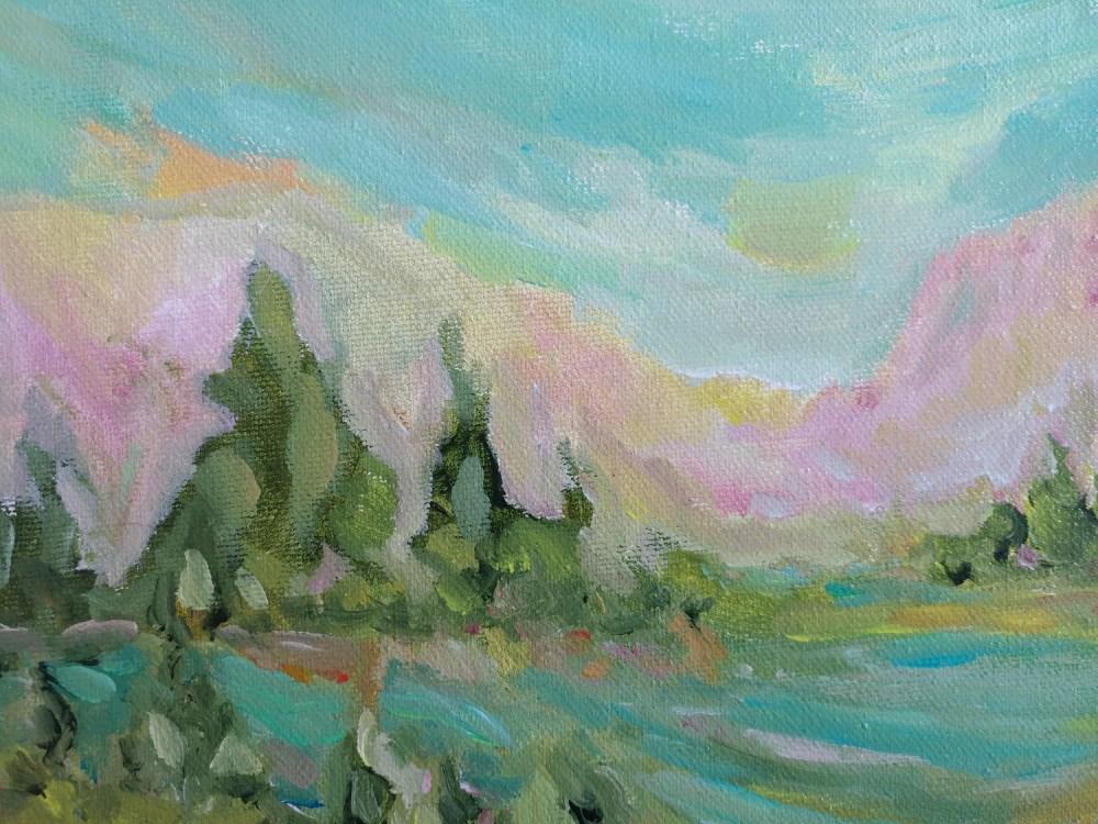 Montana Sunrise Acrylic Painting By Aeris Osborne