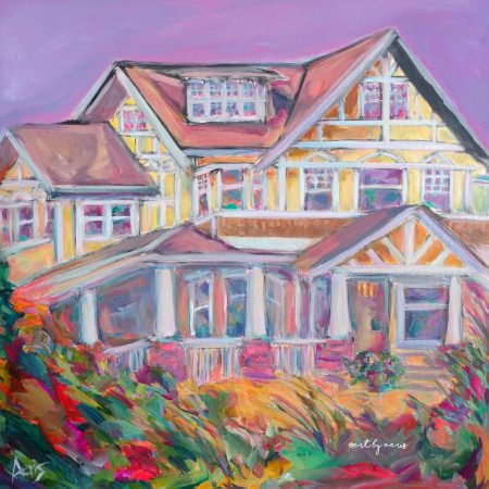 Highland Tudor House Painting Aeris Osborne