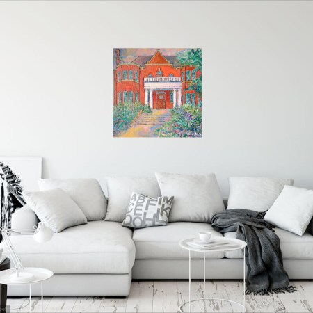 Strathcona Rutherford House Painting By Aeris Osborne