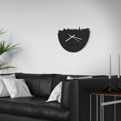 Heerenveen Skyline Black Clock Couch