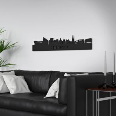 Heerenveen Skyline Black Wall Couch
