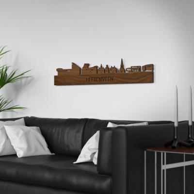 Heerenveen Skyline Walnut Wall Couch