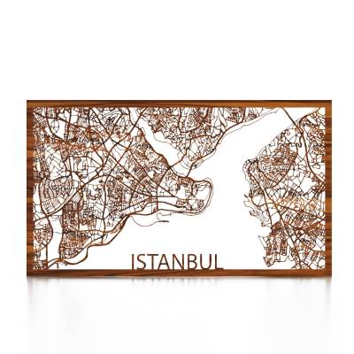 Istanbul Skyline Rosewood City Map Front