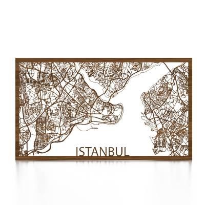 Istanbul Skyline Walnut City Map Front