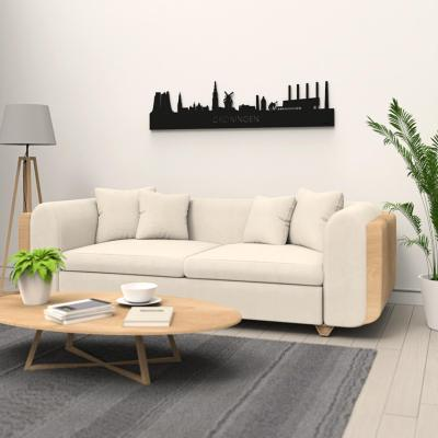 Groningen Old Skyline Black Wall Couch