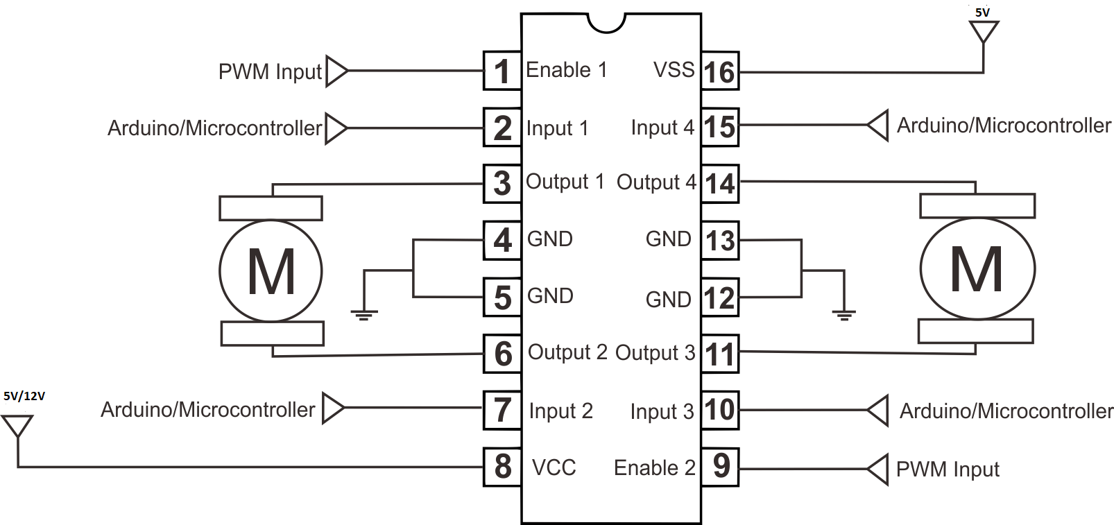 Easiest Circuit to Control a Motor With Arduino Using H