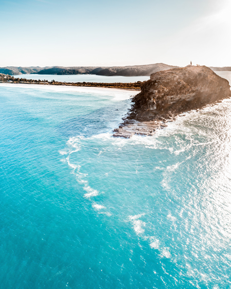 Drone Aerial of Palm Beach Headland