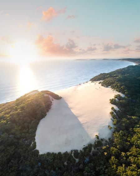 Rainbow Beach Sand Blow Aerial