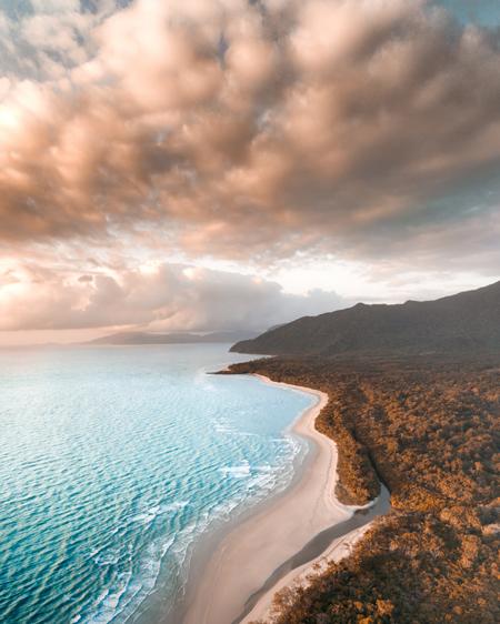 Aerial of Cape Tribulations Coastline
