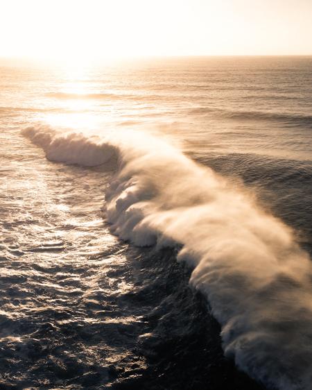 Aerial Of Huge Wave Spray