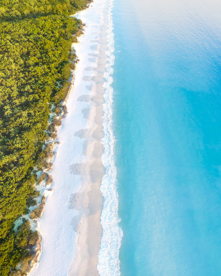 Hyams Beach From Above