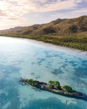 Aerial of Magnetic Island Shipwreck