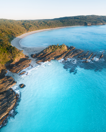 Seal Rocks From Above