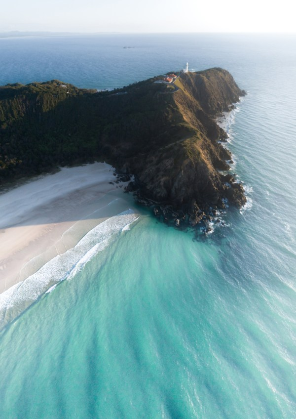 Tallow Beach Byron Bay Aerial Fine Art Print