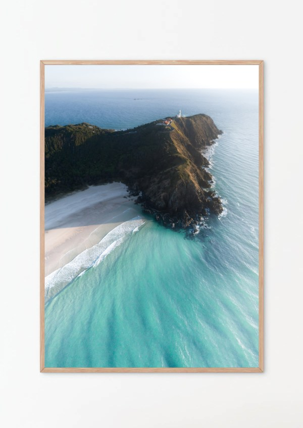 Tallow Beach Byron Bay Aerial Wall Art Print
