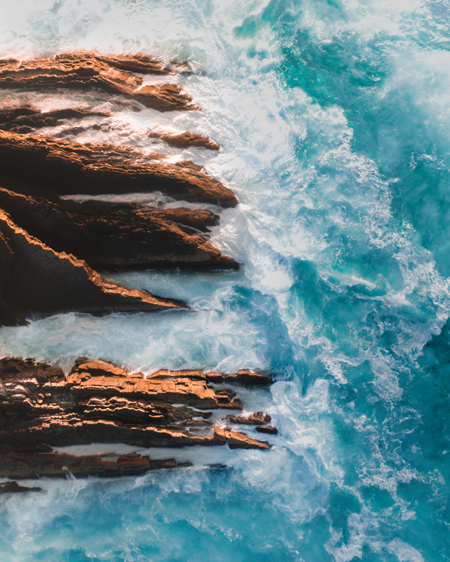 Aerial of Rock Formation At Treachery