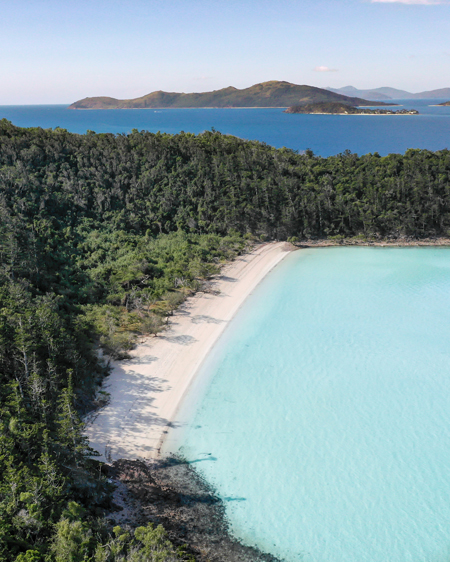 Secluded Whitsundays Beach Aerial