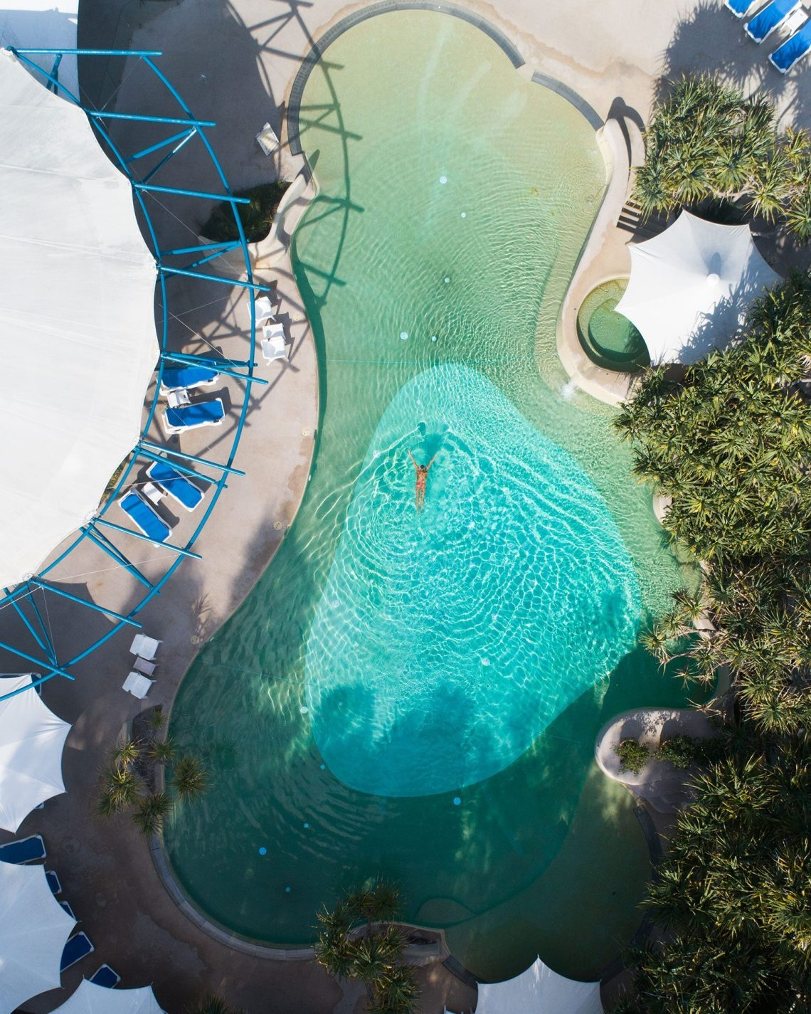 Kingfisher Bay Resort Pool Aerial