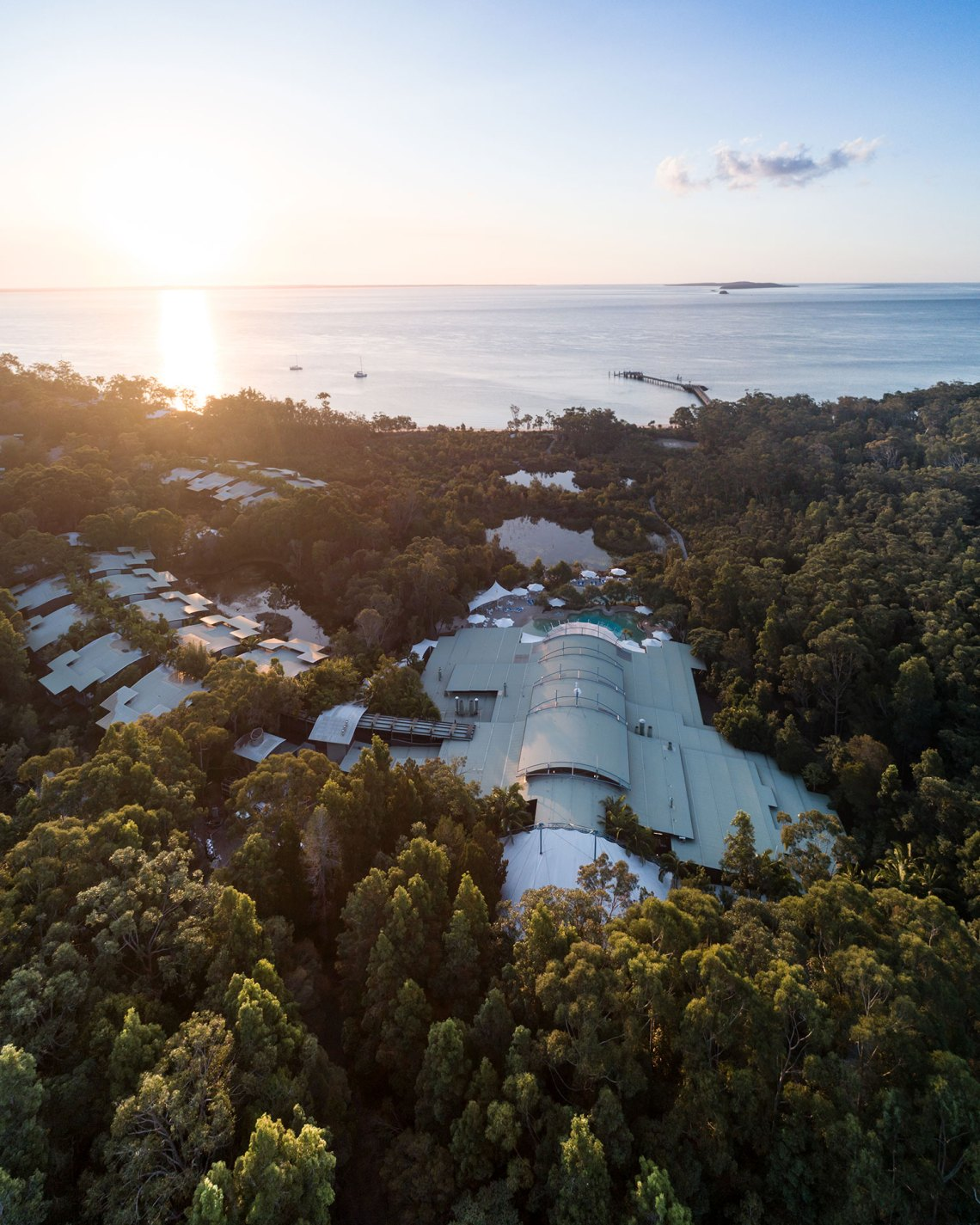 Kingfisher Bay Resort at Sunrise