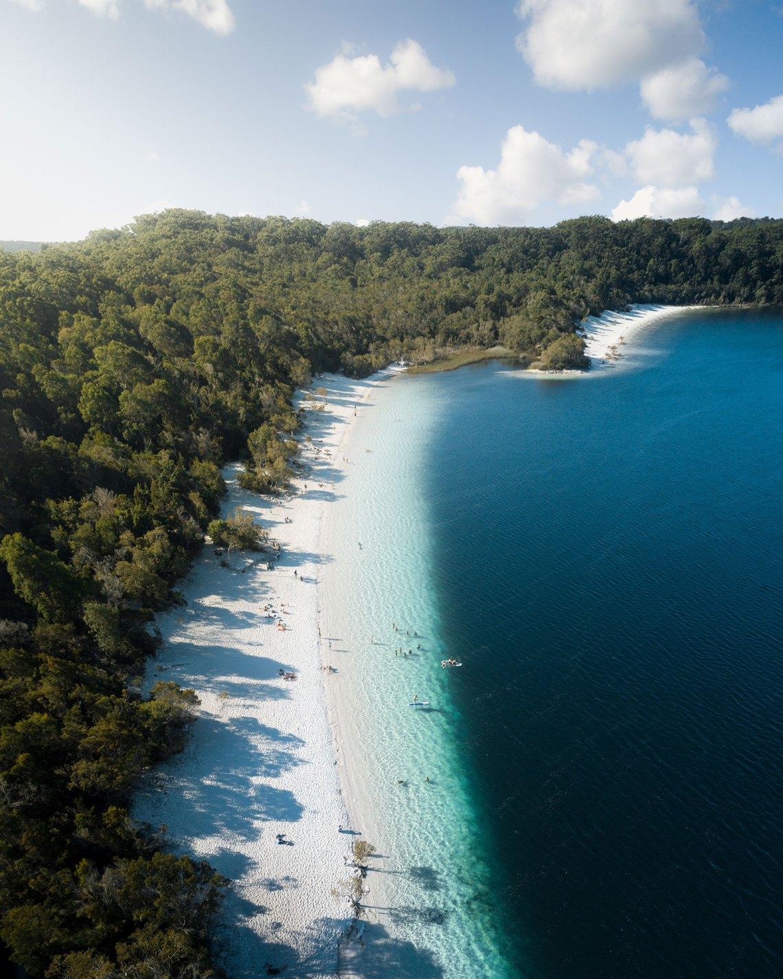 Fraser Islands Lake McKenzie Aerial