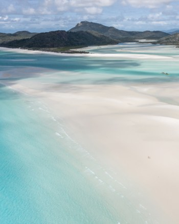 Aerial Of The Epic Sand Pattens At The Whitsundays QLD