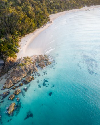 Blue Waters Of The Famous Pass Byron Bay