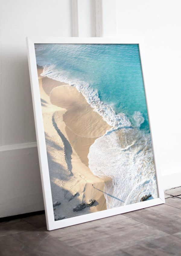 Beach Aerial Wall Art Print