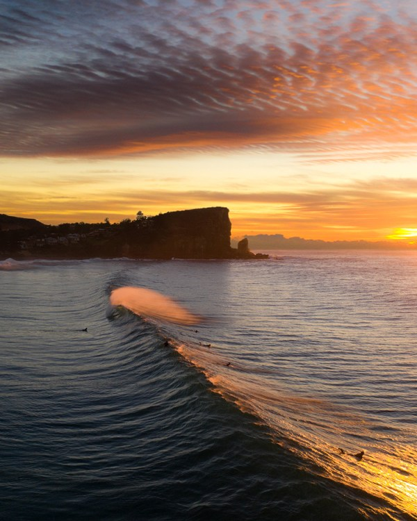 Avalon Beach Sunrise Aerial Print