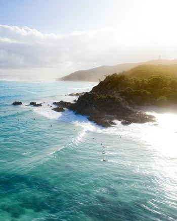 Aerial View of The Pass, Byron Bay