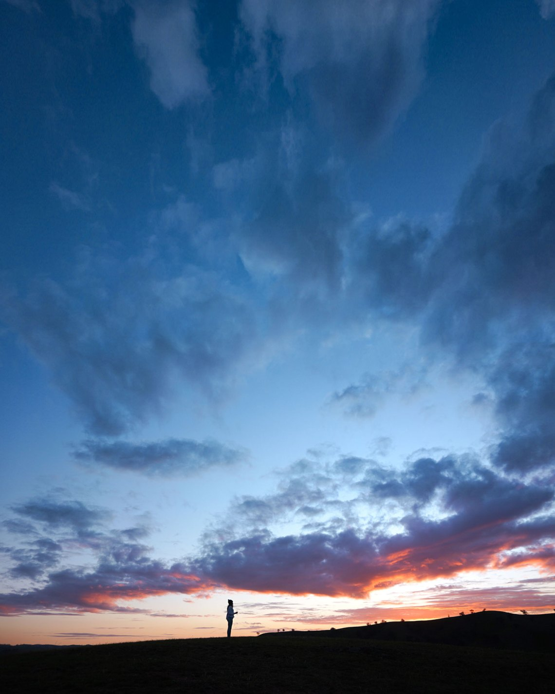 Kaede Standing On Hill For Sunset
