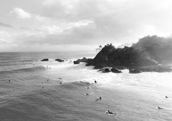 The Pass Byron Bay in Black and White