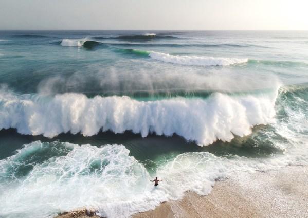 Aerial Ocean Wave Print