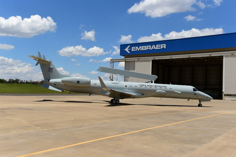 Embraer delivers the first modernized E-99 jet to the Brazilian Air Force